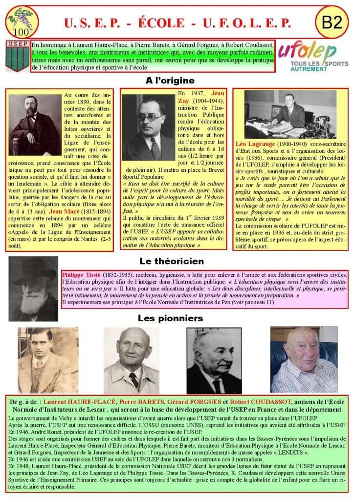 Les fondateurs de l'USEP et de l'UFOLEP