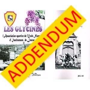 Livre glycines addendum