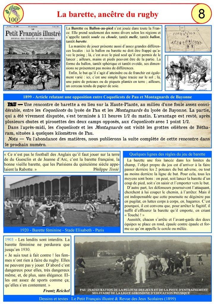 Le jeu de la barette (ancêtre du rugby)