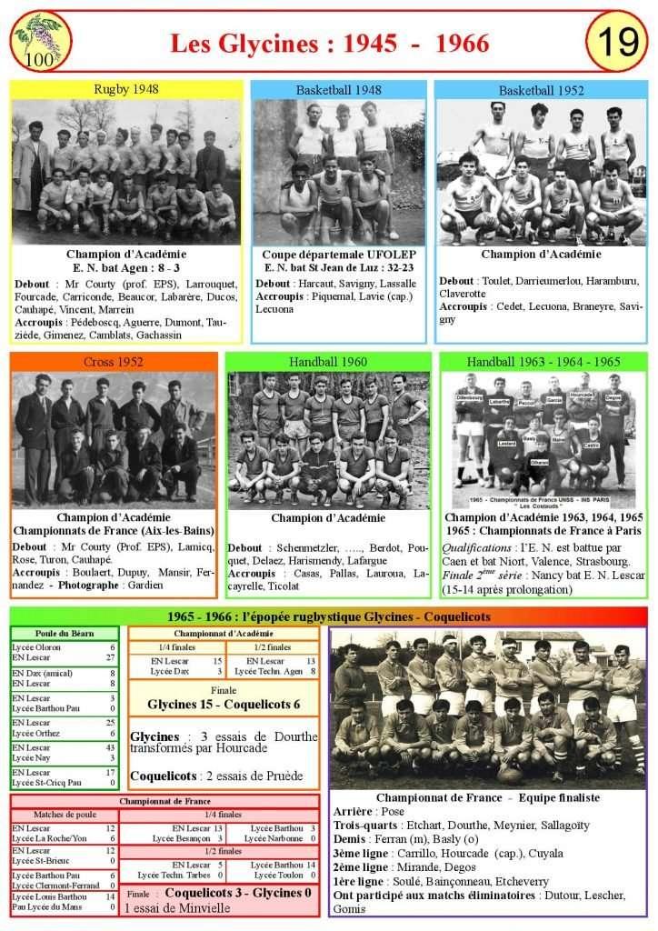 Les Glycines de 1945 à 1966